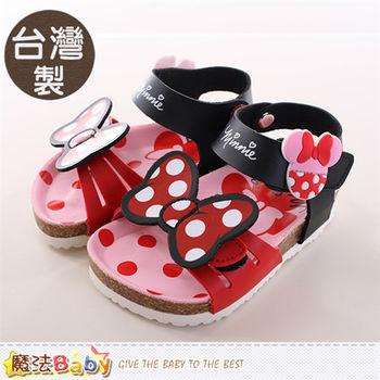 魔法Baby 女童涼鞋 台灣製迪士尼米妮正版女童涼拖鞋~sh9688