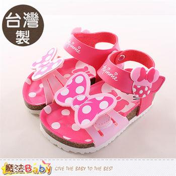 魔法Baby 女童涼鞋 台灣製迪士尼米妮正版女童涼拖鞋~sh9687