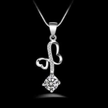 【米蘭精品】925純銀項鍊吊墜獨特精緻心型風格