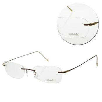 【Silhouette 詩樂】無框長方古銅金色光學眼鏡(6618-41-6056)