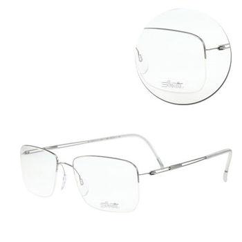 【Silhouette 詩樂】鈦金屬長方半框銀色光學眼鏡(5279-11-6050)