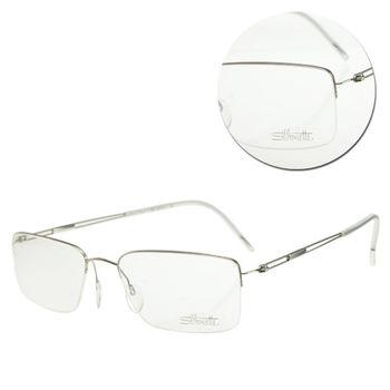【Silhouette 詩樂】斯文半框純鈦白色光學眼鏡(5278-12-6050)