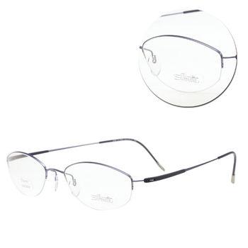 【Silhouette 詩樂】鈦金屬半框橢圓紫色光學眼鏡(4269-41-6058)