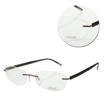 【Silhouette 詩樂】斯文無框橢圓鴨綠色光學眼鏡(4262-41-6056)