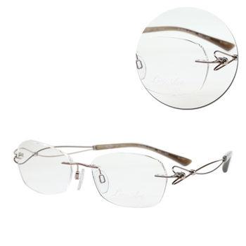 【LineArt CHARMANT】EX鈦-Dolce優雅橢圓無框金色光學眼鏡(XL2064-RG)