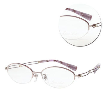 【LineArt CHARMANT】EX鈦-Duo優雅橢圓半框粉紫色光學眼鏡(XL1097-PK)
