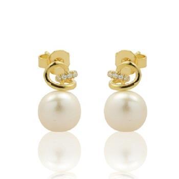 BRILLMOND 花漾珍珠純銀針式耳環