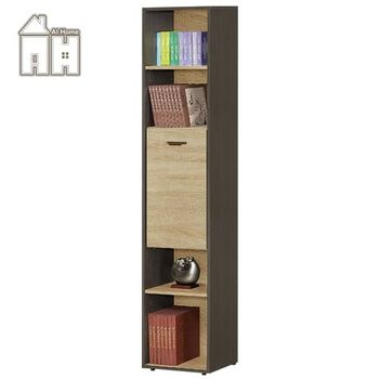 【AT HOME】瑪莎1.35尺橡木紋單門書櫃