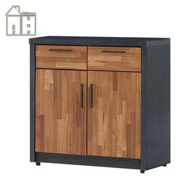 【AT HOME】尚恩2.7尺雙色碗盤櫃下座