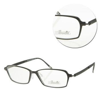 【Silhouette 詩樂】SPX輕型全框黑色復古光學眼鏡(SPX1552-51-6057)