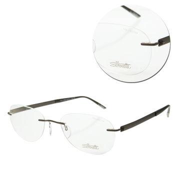 【Silhouette 詩樂】純鈦無框橢圓棕色光學眼鏡(7776-41-6055)