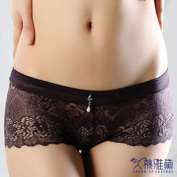 久慕雅黛 羅馬情挑‧蕾絲精品高質感小褲 羅馬咖