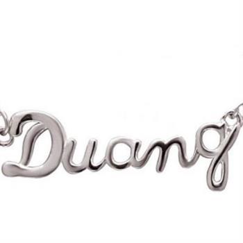 【米蘭精品】925純銀項鍊吊墜字母造型獨特