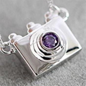 【米蘭精品】925純銀項鍊吊墜小相機造型可愛