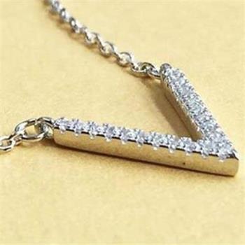 【米蘭精品】925純銀項鍊鑲鑽吊墜個性文字造型