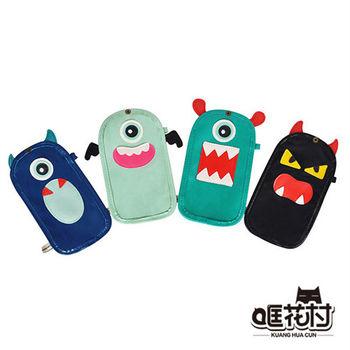 【哐花村】小怪 可觸控手機包/手機袋 -附掛脖帶 (適用5.5吋以下手機)