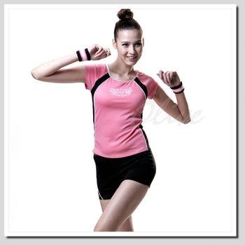 【沙兒斯】時尚運動風二件式短袖泳裝NO.B92273-08(現貨+預購)