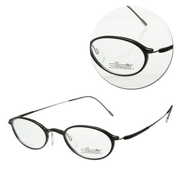 【Silhouette 詩樂】橢圓全框黑色光學眼鏡(SPX2877-51-6061)