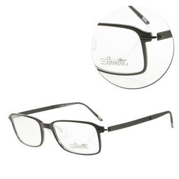 【Silhouette 詩樂】SPX輕型全框黑色復古光學眼鏡(SPX2876-51-6057)