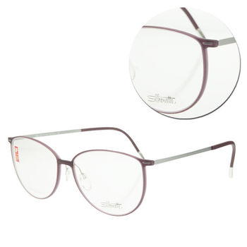 【Silhouette 詩樂】SPX橢圓全框粉紫光學眼鏡(SPX1558-10-6051)