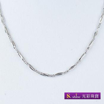 日本品牌白金項鍊(16吋)
