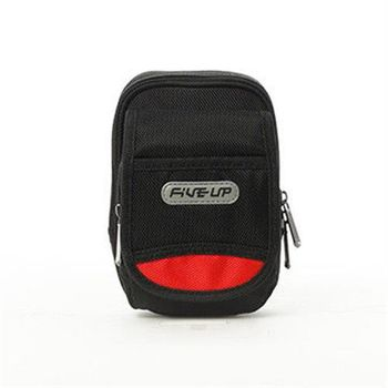 FIVE UP 防潑水十字尼龍機能腰掛包/手機包-黑
