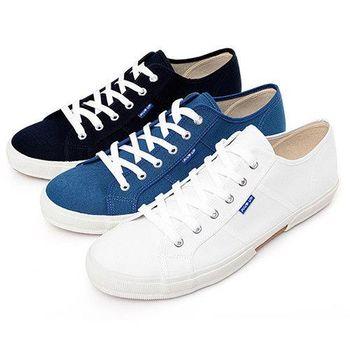 FIVE UP(男) 簡約舒適休閒綁帶帆布鞋-共三色