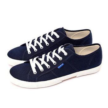 FIVE UP(男) 簡約舒適休閒綁帶帆布鞋-深藍