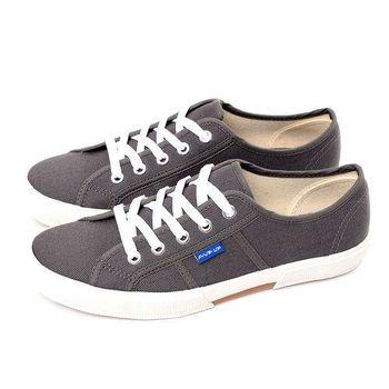 FIVE UP(女) 簡約質感休閒帆布鞋-灰