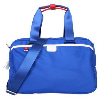 agnes b. 小旅行袋藍紅白邊(附太空人吊飾/附盒)
