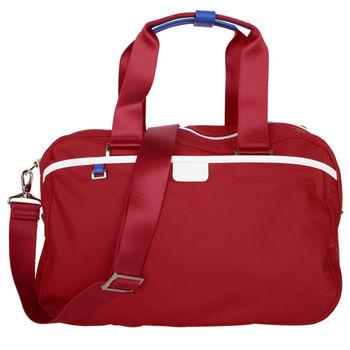 agnes b. 小旅行袋紅藍白邊(附太空人吊飾/附盒)