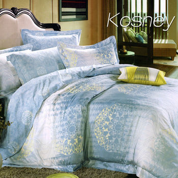 【KOSNEY】瑞麗佳人  雙人100%天絲TENCE六件式兩用被床罩組