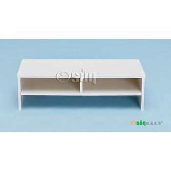 【Osun】DIY木塑板置物架白色雕花巴洛克經典款(CE-178-電腦墊高桌)