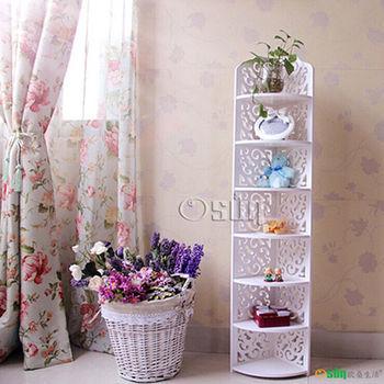 【Osun】DIY木塑板置物架 歐式白色雕花七層經典款(CE-178_120ZJ)