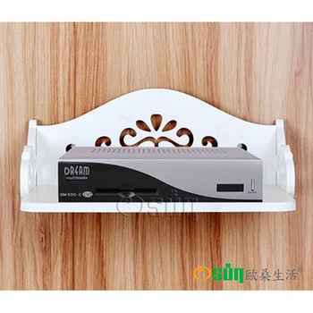 【Osun】DIY木塑板白色雕花電話掛架(CE-178-電話掛架)