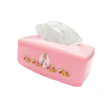【BEDDING】面紙盒-粉紅 彼得兔家居系列