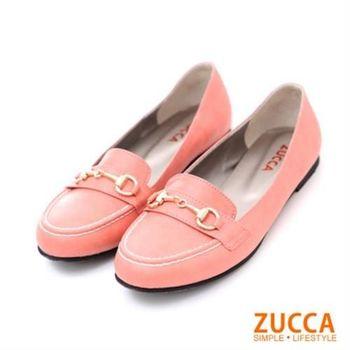 【ZUCCA】Z5603RD紳士風金扣漆皮包鞋-紅色