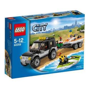 【LEGO 樂高積木】 City 城市系列 - SUV連水上摩托車 LT 60058