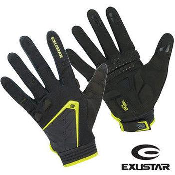 EXUSTAR 自行車全指手套(綠)L
