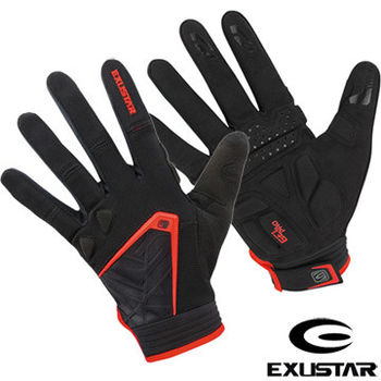 EXUSTAR 自行車全指手套(紅)XL