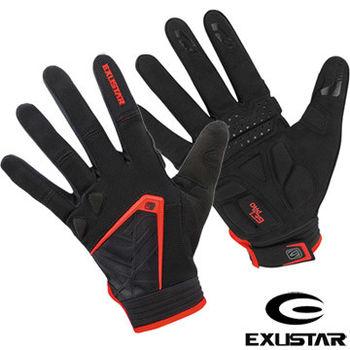 EXUSTAR 自行車全指手套(紅)L