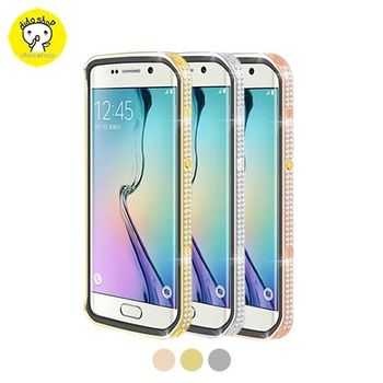 三星 S6 edge 手機保護殼 星光系列金屬邊框皮套 YC121-2【5個工作天內到貨】