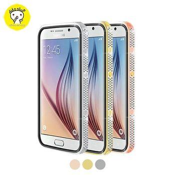 三星 S6 手機保護殼 星光系列金屬邊框皮套 YC121-1【5個工作天內到貨】
