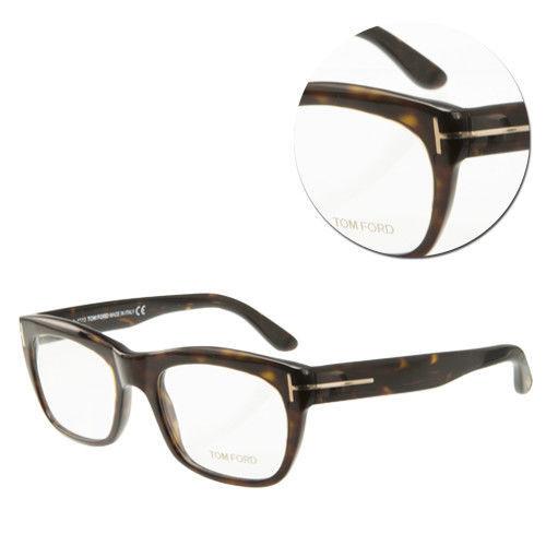 【TOM FORD】復古方形全框琥珀光學眼鏡(TF5277-053)
