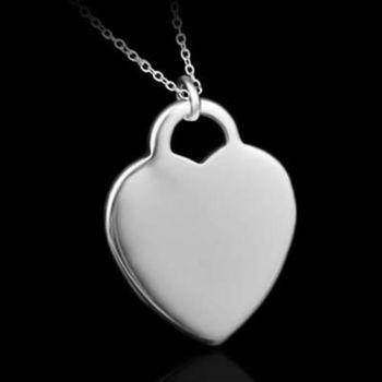 【米蘭精品】925純銀項鍊吊墜精美心形造型
