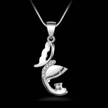 【米蘭精品】925純銀項鍊吊墜時尚氣質個性造型