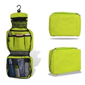 【ZARATA】大容量旅行多功能收納盥洗化妝包(綠色)