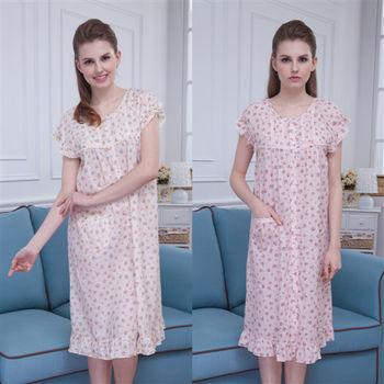 【MFN蜜芬儂】MIT-(加大XL)花球蓓蕾透氣純棉洋裝2件組
