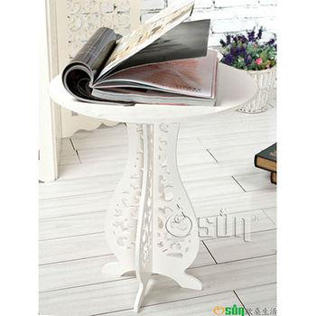 【Osun】DIY木塑板白色巴洛克經典款大圓桌CE-178