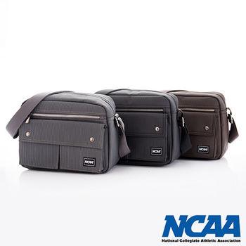 NCAA 側背波特包 紳士餅乾包 直紋尼龍隨身機車斜小包(棕、深灰、黑)